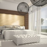 Extravagant Exclusive Design Bedroom with sea view