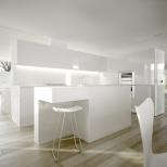 White minimalist modern kitchen